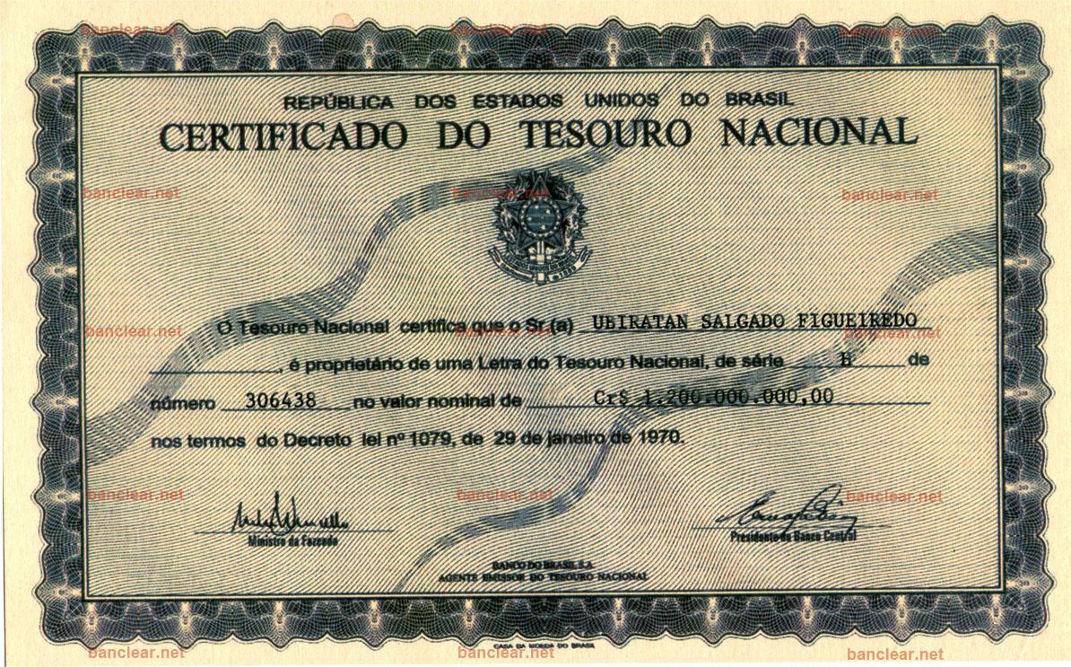 Bonos LTN brasileños, Letra brasileña do Tesouro Nacional, LTN